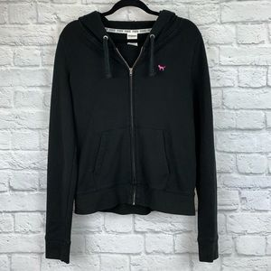 PINK Victoria's Secret Love Pink Zip-Up Hoodie L